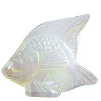 Фигурка Рыбка Lalique Fish Seal Opalescent Lustre опаловая, фото