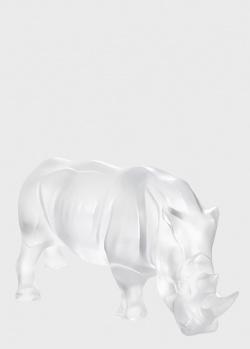 Скульптура Lalique Rhinocers Носорог из прозрачного хрусталя, фото