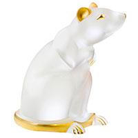Фигурка Lalique Крыса с позолотой, фото