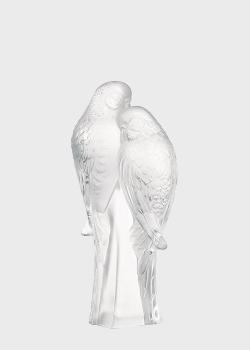 Фигурка Lalique Parakeets Неразлучники из хрусталя, фото