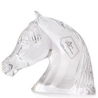 Прозрачная хрустальная фигурка головы лошади Royale de Champagne, фото