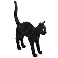 Лампа Seletti Jobby the cat черного цвета, фото