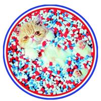 Круглый ковер Seletti Toiletpaper с принтом кошки, фото