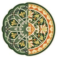 Ковер Seletti Toiletpaper зеленого цвета, фото