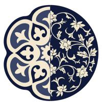 Круглый ковер Seletti Toiletpaper синего цвета, фото