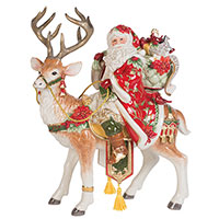 Статуэтка Деда Мороза Fitz and Floyd Рождественские эмоции, фото