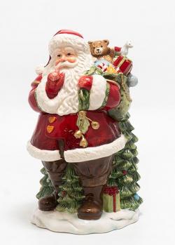 Статуэтка-шкатулка Palais Royal Санта с мешком подарков, фото