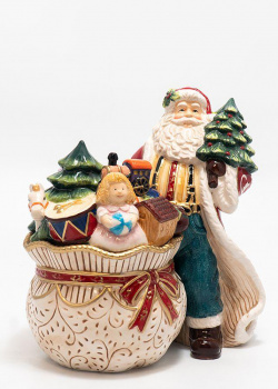Статуэтка-шкатулка Palais Royal Санта с подарками и елкой, фото