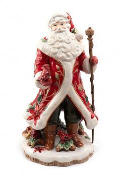 Статуэтка из керамики Fitz and Floyd Дед Мороз с птичкой, фото