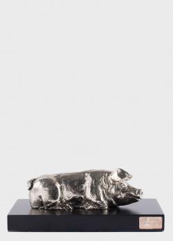 Фигурка с посеребрением Faberge в виде поросенка, фото
