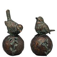 Набор статуэток Exner TroupeR Птички на шарах 2 шт, фото