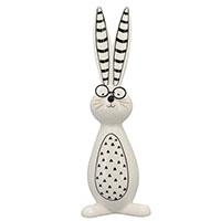 Статуэтка керамическая Exner Зайчик с полосатыми ушками, фото