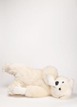 Движущаяся игрушка Michel Taillis Creation Leonardo blanc Мишка на спине, фото