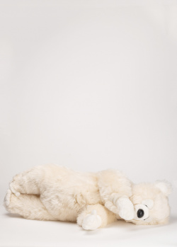 Движущаяся игрушка Michel Taillis Creation Leonardo blanc Мишка на боку, фото