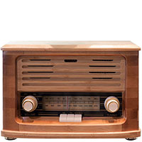 Радиоприемник Modernize Creation Ретро волна из бамбука, фото