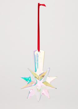 Елочная игрушка Baccarat Christmas Star из радужного хрусталя, фото