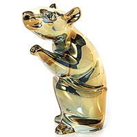 Золотистая статуэтка Baccarat Zodiac Mouse 10,2см, фото
