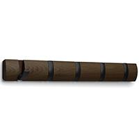 Вешалка на пять крючков Umbra Flip в коричневом цвете, фото