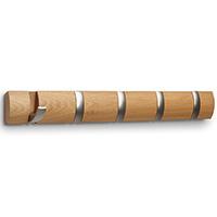 Деревянная вешалка Umbra Flip с пятью крючками, фото