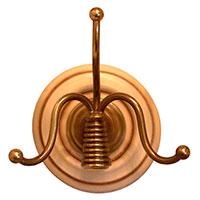 Вешалка Capanni декорированная пружиной золотистого цвета, фото