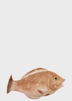 Настенный декор Palais Royal 35см в форме рыбы, фото