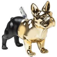 Копилка Kare Bulldog Gold-Black 27,5х34х14,5см, фото