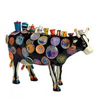 Корова Cow Parade Moo Potter с посудой, фото