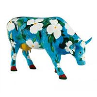 Статуэтка коровы Cow Parade Cowalina Dogwood голубого цвета, фото