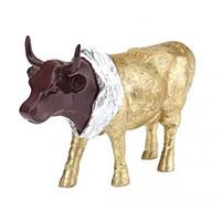 Статуэтка коровы Cow Parade Vaquita de Chocolat золотистого цвета, фото