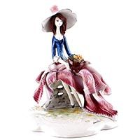 Статуэтка Zampiva «Дама в розовом на скамейке», фото