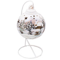 Керамическая статуэтка Villa Grazia в виде новогоднего шарика, фото