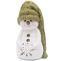 Статуэтка Villa Grazia Снеговик в шляпе с подсветкой, фото