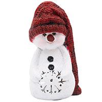 Статуэтка Villa Grazia Снеговик в шляпе из керамики, фото