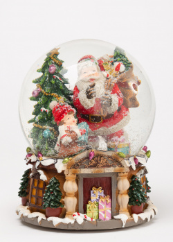 Музыкальный снежный шар G.Wurm Санта, фото