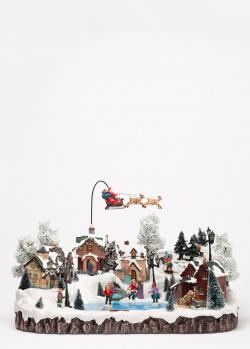 Новогодний музыкальный декор G.Wurm Зимняя сцена, фото