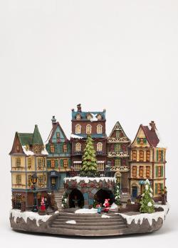 Новогодний анимированный декор Timstor Деревенская ратуша, фото