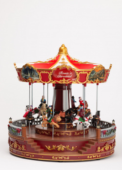 Новогодний декор Timstor Карусель большая с подсветкой, фото