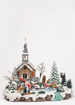 Новогодний декор Timstor Церковь с подсветкой, фото