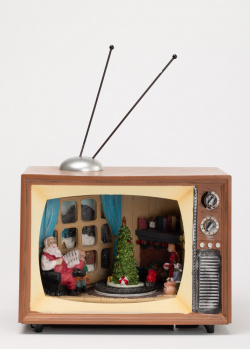 Новогодняя статуэтка Timstor Телевизор с подсветкой, фото