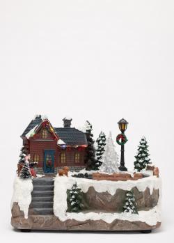 Новогодний декор Timstor Городок с фонтаном, фото