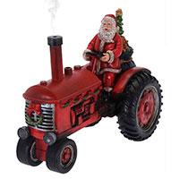 Новогодняя статуэтка Koopman Санта на тракторе, фото