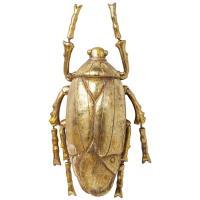 Настенный декор Kare Plant Beetle Gold 26х14,5х8см, фото