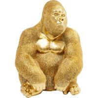 Статуэтка Kare Monkey Gorilla Side Medium Gold 38,5х30х28см, фото
