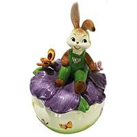 Музыкальная скульптура Goebel с кроликом 17см, фото