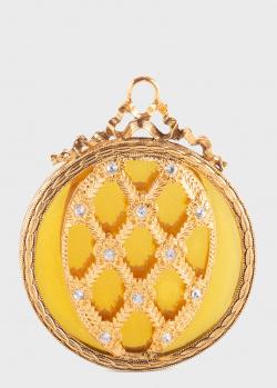 Новогоднее украшение Faberge Reflection Ornament Coronation золотистое, фото