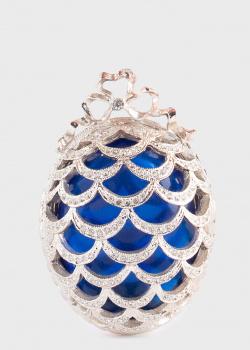 Яйцо-украшение Faberge Pine Cone синее, фото