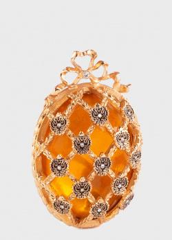 Яйцо-украшение Faberge Coronation желтое , фото