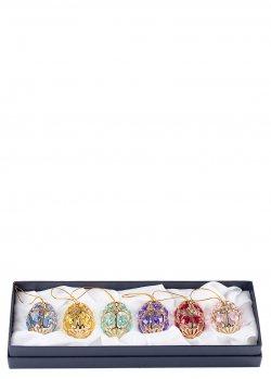 Набор ёлочных украшений Faberge из шести штук, фото