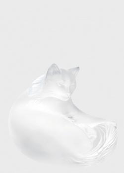 Хрустальная статуэтка Lalique Happy Cat Кошка счастливая, фото