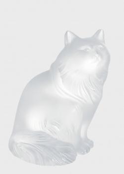 Статуэтка Lalique Heggie Cat Кошка из прозрачного хрусталя, фото